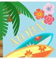 Aloha palm vector image