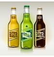 Beer set for St Patricks Day vector image