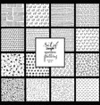 set of hand drawn simple black and white texture vector image