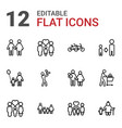 12 father icons vector image vector image