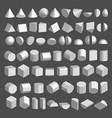 3d shapes set