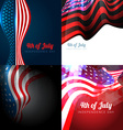 4th of july american independence day background vector image vector image