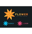 Abstract flower icon logo vector image