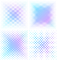 Abstract square halftone elements vector image vector image