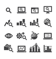 analysis icon set vector image vector image