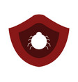 antivirus icon on white background vector image