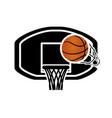 basketball balloon with basket board vector image vector image