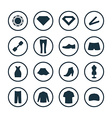 beauty glamour icons universal set vector image