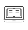 book or file on laptop screen e-learning concept vector image