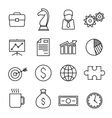 Business finance line icons vector image