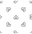 camp tent pattern seamless vector image vector image