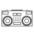 cassette recorder mobile stereo music icon vector image vector image