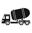 cement truck icon simple style vector image