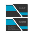 clean and modern business card template vector image vector image
