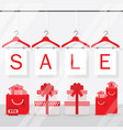 clothing hangers sale signage and banners window vector image vector image