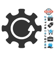 Cog Rotation Direction Icon With Free Bonus vector image vector image