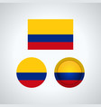 colombia trio flags vector image vector image