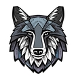 color Wolf head vector image vector image