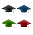 Colorful Student Hat Set Graduated vector image