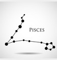 constellation pisces zodiac sign vector image