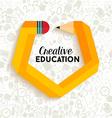 Creative education concept vector image vector image