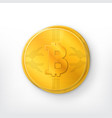 crypto currency golden coin vector image vector image
