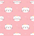 cute princess cats seamless pattern vector image vector image