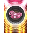 Dance Party Night Poster Background Template - vector image vector image