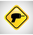 drill sign repair metal yellow icon vector image