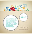 educational school background vector image vector image