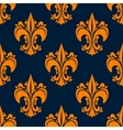Elegant french seamless fleur-de-lis pattern vector image vector image