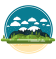 Flat Landscape vector image vector image