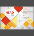 flyer template with colored squares vector image