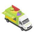 fruits truck icon isometric style vector image vector image