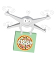 Funny drone Pizza Isolated vector image vector image
