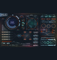 futuristic interface hud design infographic vector image vector image