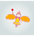 Gift card with little fairy vector image vector image