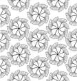 gingko leaf circle seamless pattern white vector image vector image