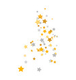 golden and silver stars composition celebration vector image vector image