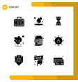 group 9 solid glyphs signs and symbols vector image vector image