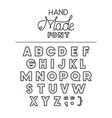hand made font alphabet vector image vector image