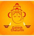 happy ganesh chaturthi festival greeting design vector image vector image