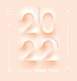 happy new year neumorphism liquid plastic numbers vector image vector image