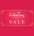 happy valentines day red banner vector image