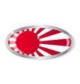 japanese flag oval button vector image vector image