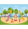 kids children playing in playground vector image vector image