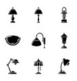lighting fixture icons set simple style vector image vector image