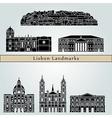 Lisbon V2 Landmarks vector image vector image