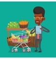 Man with shopping list vector image vector image