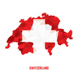 Map of Switzerland vector image vector image